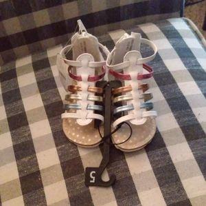 Infant girl size 5 sandals